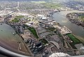 2018 LCY, aerial view of Greenwich Peninsula 2.jpg