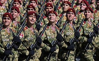 National Guard of Russia - National Guard troops in the 2018 Moscow Victory Day Parade.