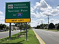 2020-08-05 15 08 39 View south along Maryland State Route 157 (Merritt Boulevard) just north of the exit for the Peninsula Expressway (Sparrows Point, TO Interstate 695) in Dundalk, Baltimore County, Maryland.jpg