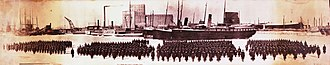 23rd Reserve Battalion, CEF - The 23rd Infantry Battalion departing Quebec City on February 2, 1915