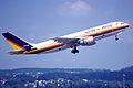 261ae - Fly Air Airbus A300B4-2C; TC-FLF@ZRH;27.09.2003 (5126308299).jpg