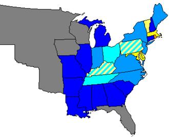 28th United States Congress - Image: 28 us house membership