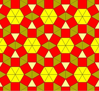 Euclidean tilings by convex regular polygons - Image: 3 uniform n 57