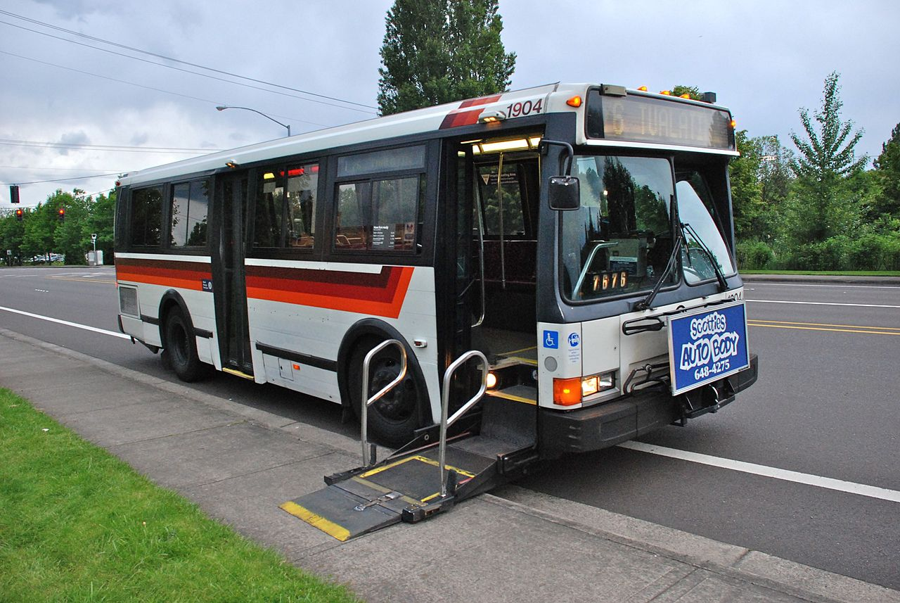 Steps For Buses : File foot flxible metro bus trimet with