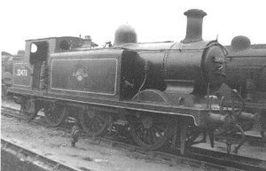LB&SCR E4 class - No. 32473, (formerly named Birch Grove), at Stewart's Lane in 1960 before withdrawal and subsequent preservation.