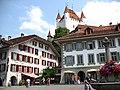 4196 - Thun - Schloss Thun over Rathausplatz.JPG