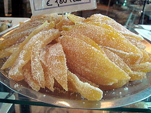 Candied orange peel, shot in Syracuse, Sicily....