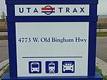 4800 W Old Bingham Hwy station street sign, Apr 16.jpg
