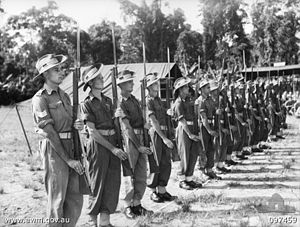 7th Brigade (Australia) - An honour guard drawn from the 7th Brigade and 3rd Division in 1945