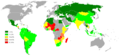 Percentage population living on less than 1 dollar day