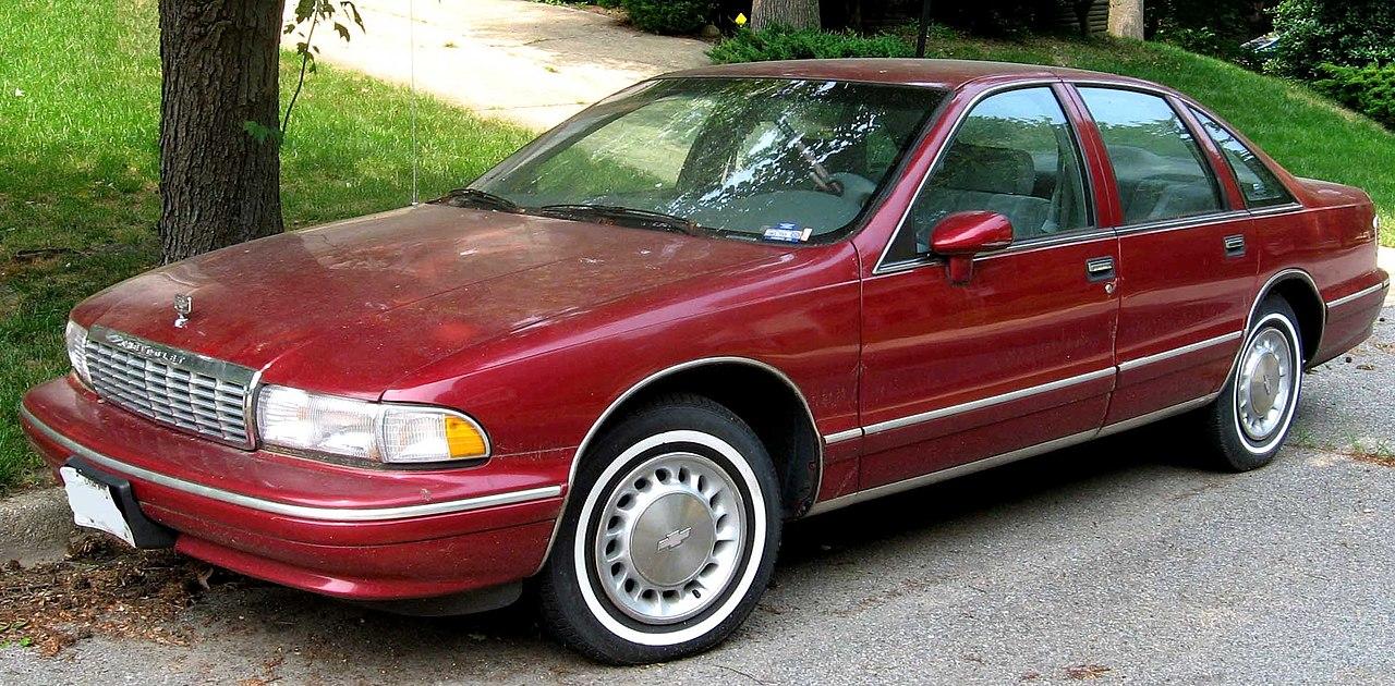 All Chevy 96 chevrolet caprice : File:93-96 Chevrolet Caprice Sedan.jpg - Wikimedia Commons