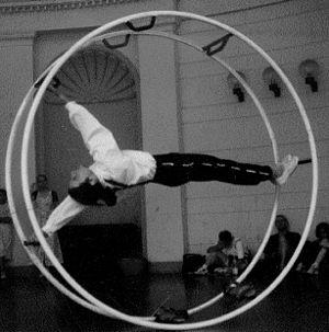 Wheel gymnastics - Image: 96 Wheels Spindle Bridge