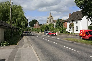 Winterbourne Earls village in United Kingdom