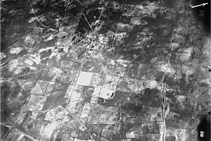 Kfar Saba - Aerial photograph of Kfar Saba taken by the German Air Force during World War I