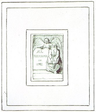 All Religions are One - Image: ARO Plate 2 (Title page)