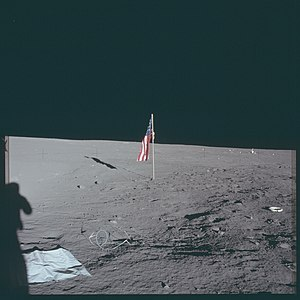 Lunar Flag Assembly - Apollo 12 flag with faulty latch mechanism
