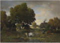 A Country Scene -Théodore Rousseau .PNG