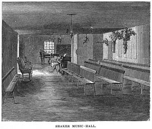 A Shaker Music Hall, The Communistic Societies Of The United States, By  Charles Nordhoff, 1875