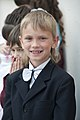 A boy poses for a photograph during a graduation ceremony at Birdik Village School at Transit Center at Manas, Kyrgyzstan, May 25, 2013 130525-F-LK329-017.jpg