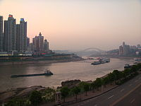 A dusk view of Chongqing Downtown.JPG