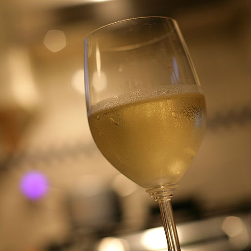 A glass of Chablis