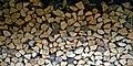 A log stack at Boreham, Essex, England 1.jpg