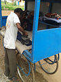 A man ironing clothes at Kakinada 02.jpg