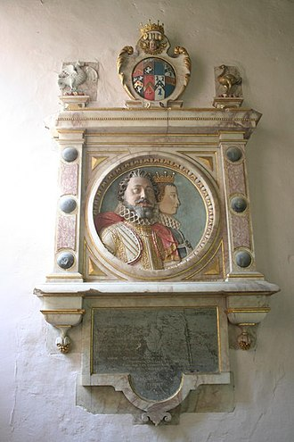 Robert Rich, 1st Earl of Warwick - Mural monument to Robert Rich, 1st Earl of Warwick and his second wife Frances Wray. St Lawrence's Church, Snarford, Lincolnshire