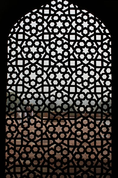 File:A stone jaali in the Humayuns Tomb.jpg