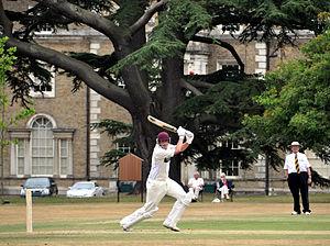 Peper Harow - Playing cricket at Peper Harow