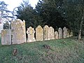 A wall of tombstones - geograph.org.uk - 1713767.jpg
