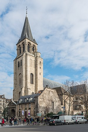 Abbey of Saint-Germain-des-Prés - The church as seen from south-west