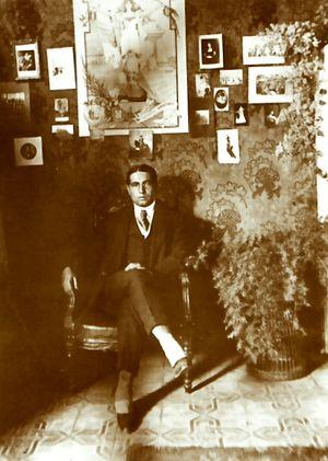 Español: El escritor peruano Abraham Valdeloma...