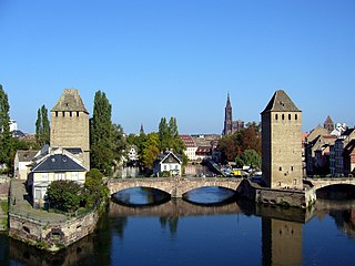 Grande Île (Strasbourg) island in Bas-Rhin, France