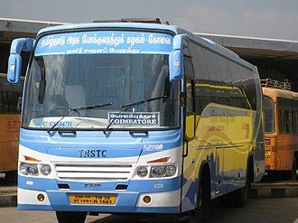 Tamil Nadu State Transport Corporation - TNSTC AC bus operated by Coimbatore division