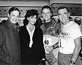 Actor Louis Jourdan, Actress Lisa Howard, State Sen. Joe Timilty, Mayor Raymond L. Flynn (9519679302).jpg