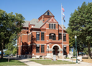 The Adair County Courthouse in Greenfield, listed on the NRHP since 1981 [1]