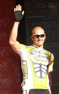 Adam Hansen bei der Teampräsentation bei der Tour Down Under 2009