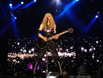 "Ray of Light - Madonna performing ""Ray of Light"" during the 2008 Sticky & Sweet Tour. The song won an MTV Video Music Award for Video of the Year and a Grammy Award for Best Dance Recording."