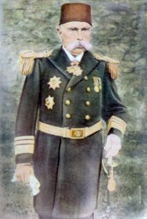 Westernization - Another example of Westernization: Adil Pasha, an admiral of the Imperial Ottoman Navy in typical Western naval dress uniform.