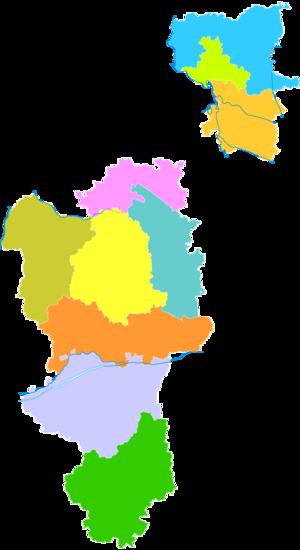 Langfang - Image: Administrative Division Langfang