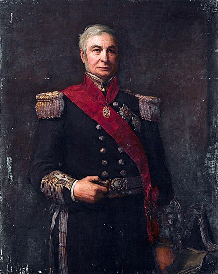 Sir Alexander Milne (1808-1896) was concurrently KCB (civil division) and GCB (military division); he is pictured wearing both sets of insignia. Admiral Alexander Milne (1808-1896), by Walter William Ouless.jpg