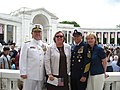 Admiral Allen, Mrs. Allen, MCPOCG Bowen and Mrs. Bowen at the ANC Ampitheater (3563771666).jpg