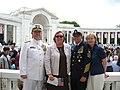 Admiral Allen, Mrs. Allen, MCPOCG Bowen and Mrs. Bowen at the ANC Ampitheater (3563771666).jpg