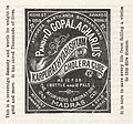 Advertisement for Pandit D. Gopalacharlus Cholera cure. Wellcome L0040598.jpg