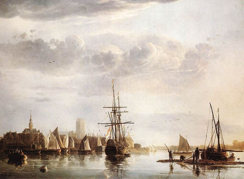 View of Dordrecht, by Aelbert Cuyp