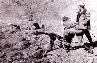 Soviet–Afghan War - Soviet soldiers conducting training