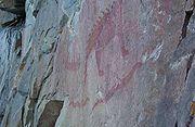 Pictographs at Lake Superior Provincial Park