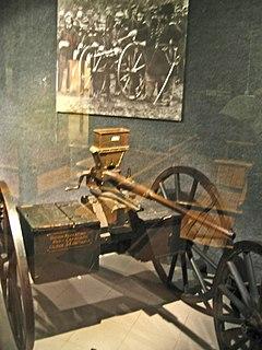 Agar gun Hand cranked machine gun
