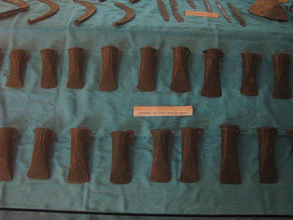 Aiud History Museum 2011 - Bronze Age - Celt Type Axes-2